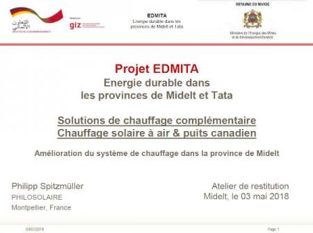 Energie durable dans les provinces de Midelt et Tata