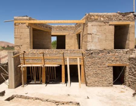 Construction en pierres écoresponsable au maroc